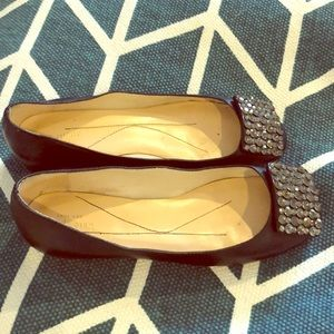 Kate Spade jeweled leather ballet flat